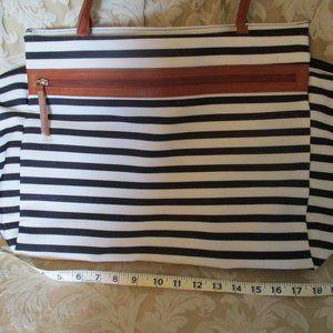 NWT DSW Striped Tote Bag/Purse